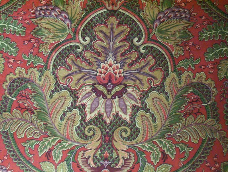 Moma Ruby accent fabric, as shown on chair.