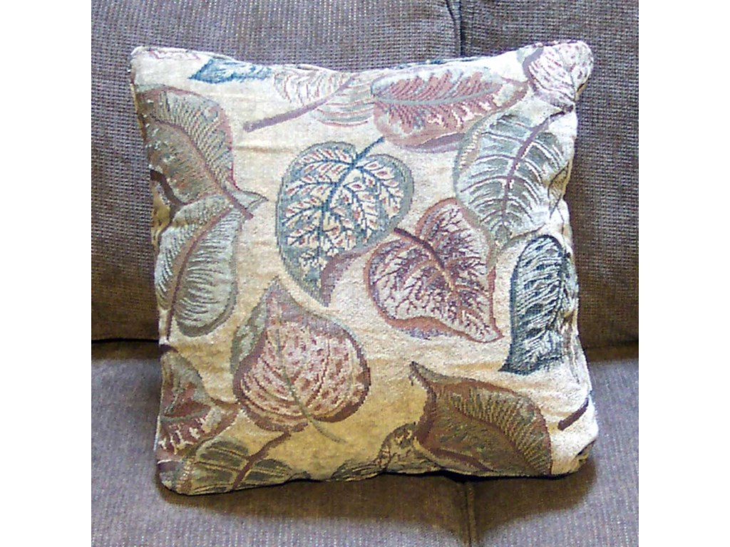 Arm pillow in Anamosa Celadon fabric.