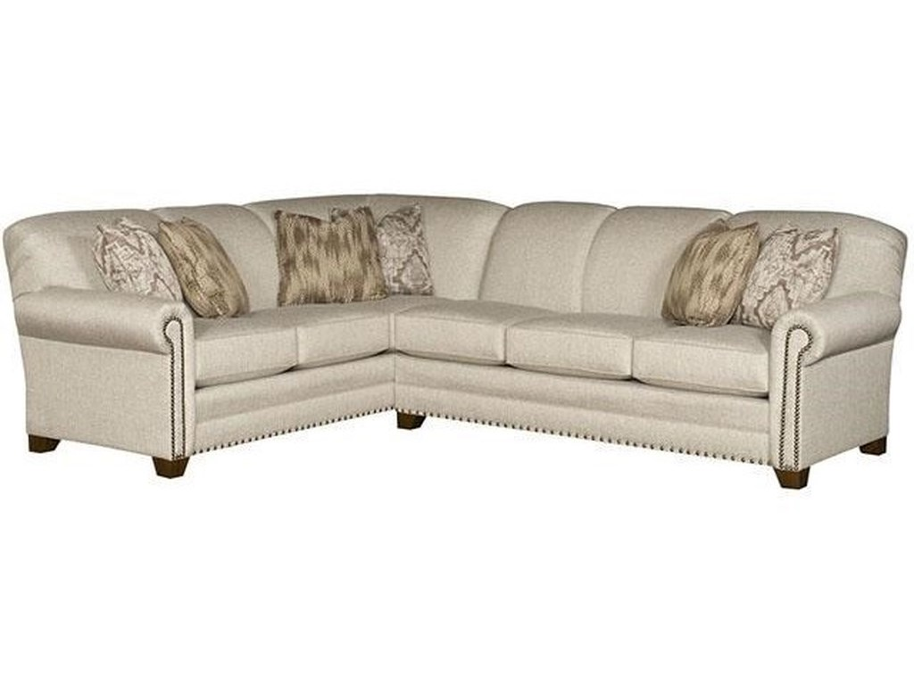 Annika L-Shape Sectional with Rolled Arms by King Hickory at Godby Home  Furnishings