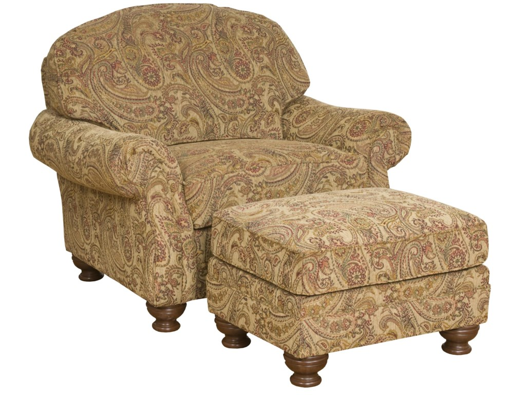 King Hickory Boston Chair and Ottoman Set
