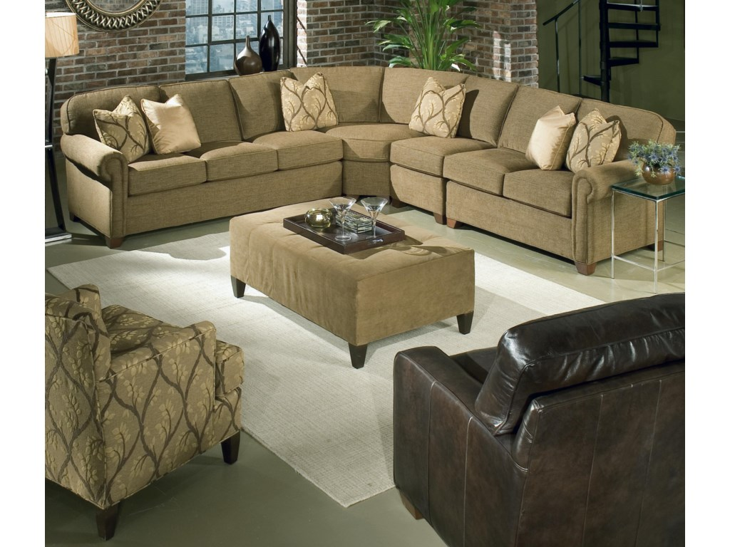 King Hickory Brighton 4 Piece Sectional