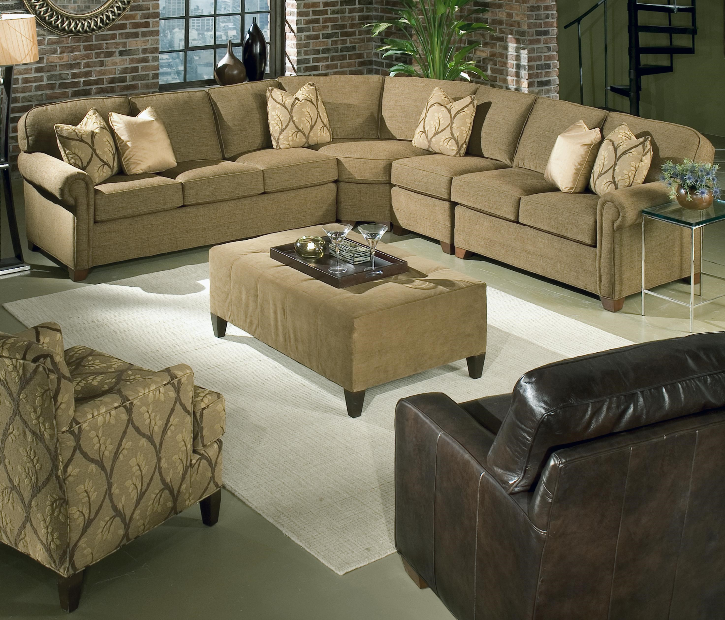 King Hickory Brighton 4 Piece Customizable Sectional