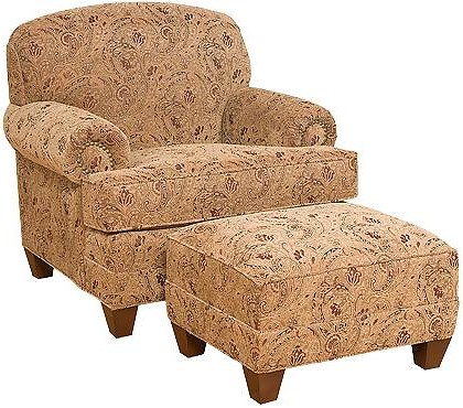 King Hickory Callie Traditional Companion Chair with Ottoman