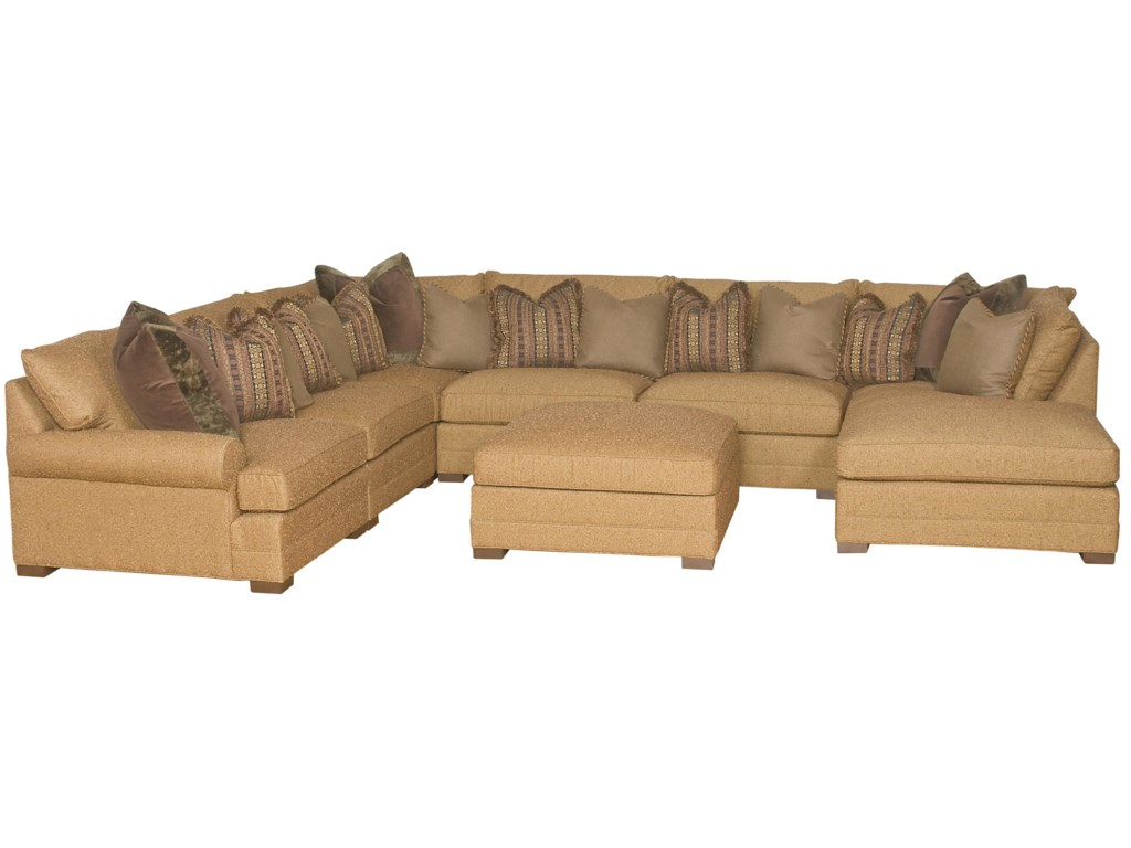 King Hickory Casbah Transitional U Shaped Sectional Sofa ...