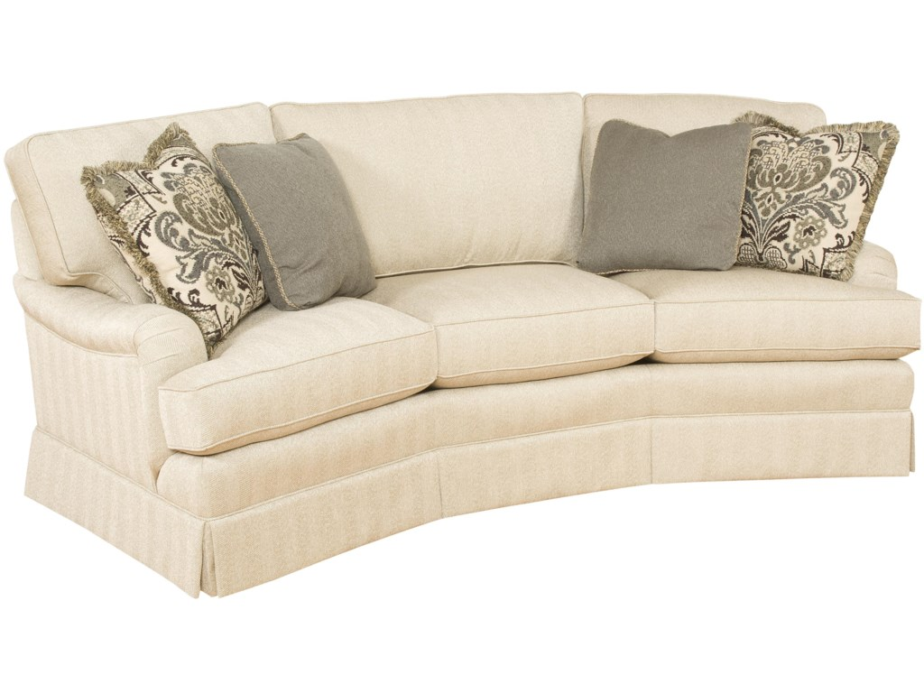 King Hickory Chatham Customizable Conversation Sofa With