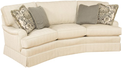 King Hickory Chatham Customizable Conversation Sofa With English Arms And Skirt