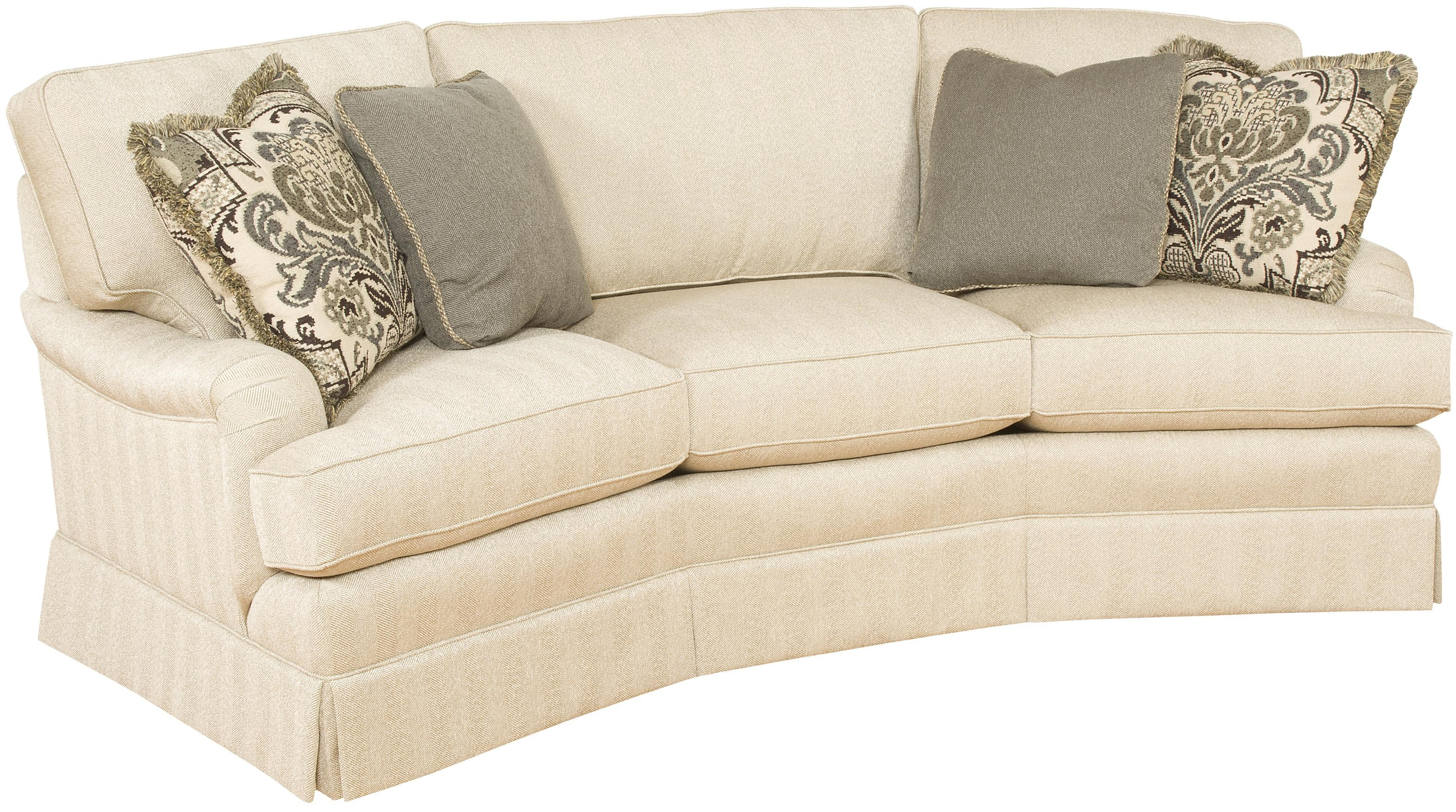 Exceptionnel King Hickory Chatham Customizable Conversation Sofa With English Arms And  Skirt