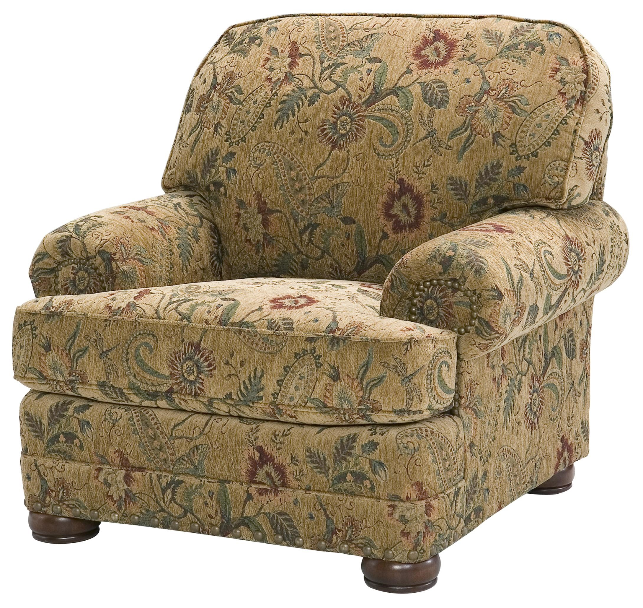 King Hickory Edward Comfortable Lounge Chair With Nail Head Trim