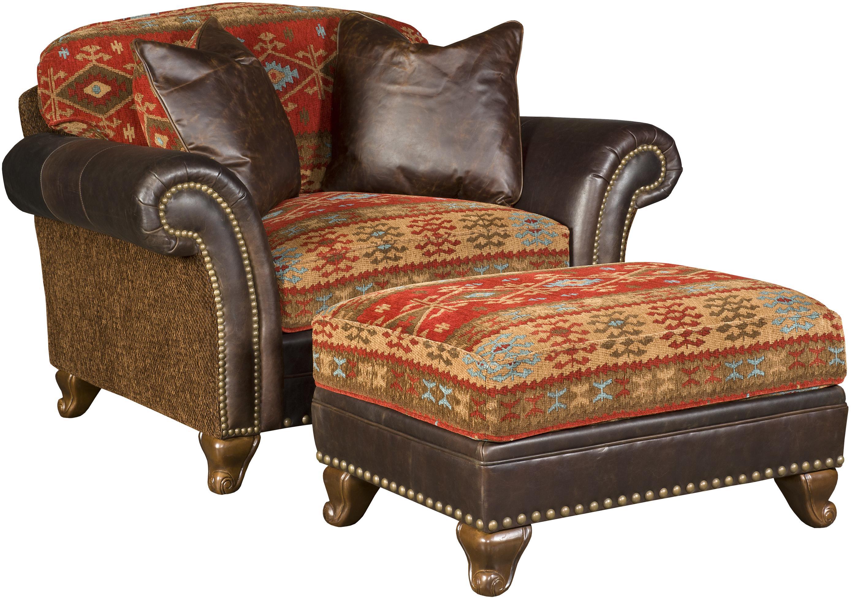 Charmant King Hickory Katherine Traditional Chair And A Half And Ottoman With  Nailhead Trim