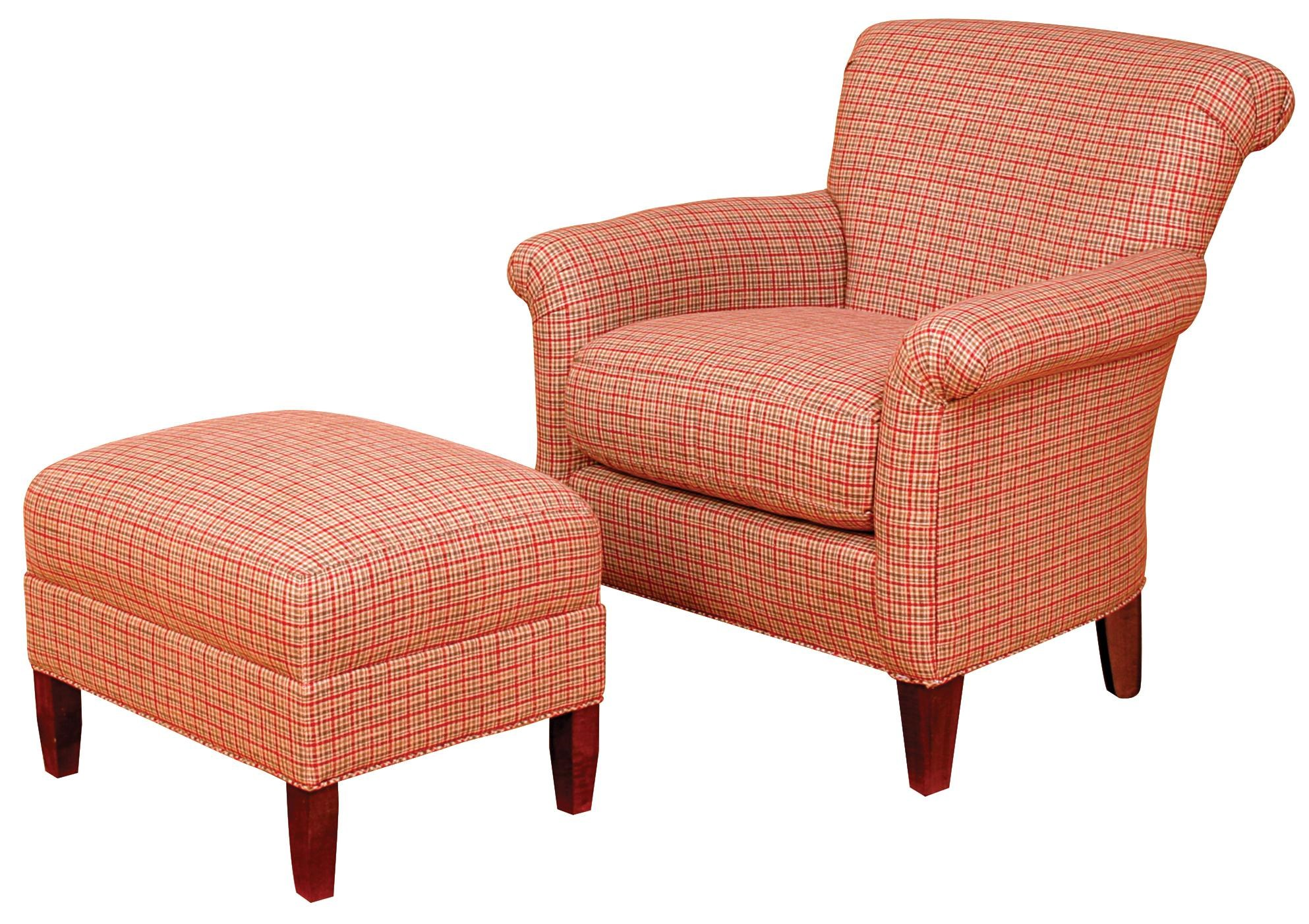 Beau Biltmore King Hickory Accent Chairs And OttomansFrancis Rolled Back Chair  And Ottoman Set