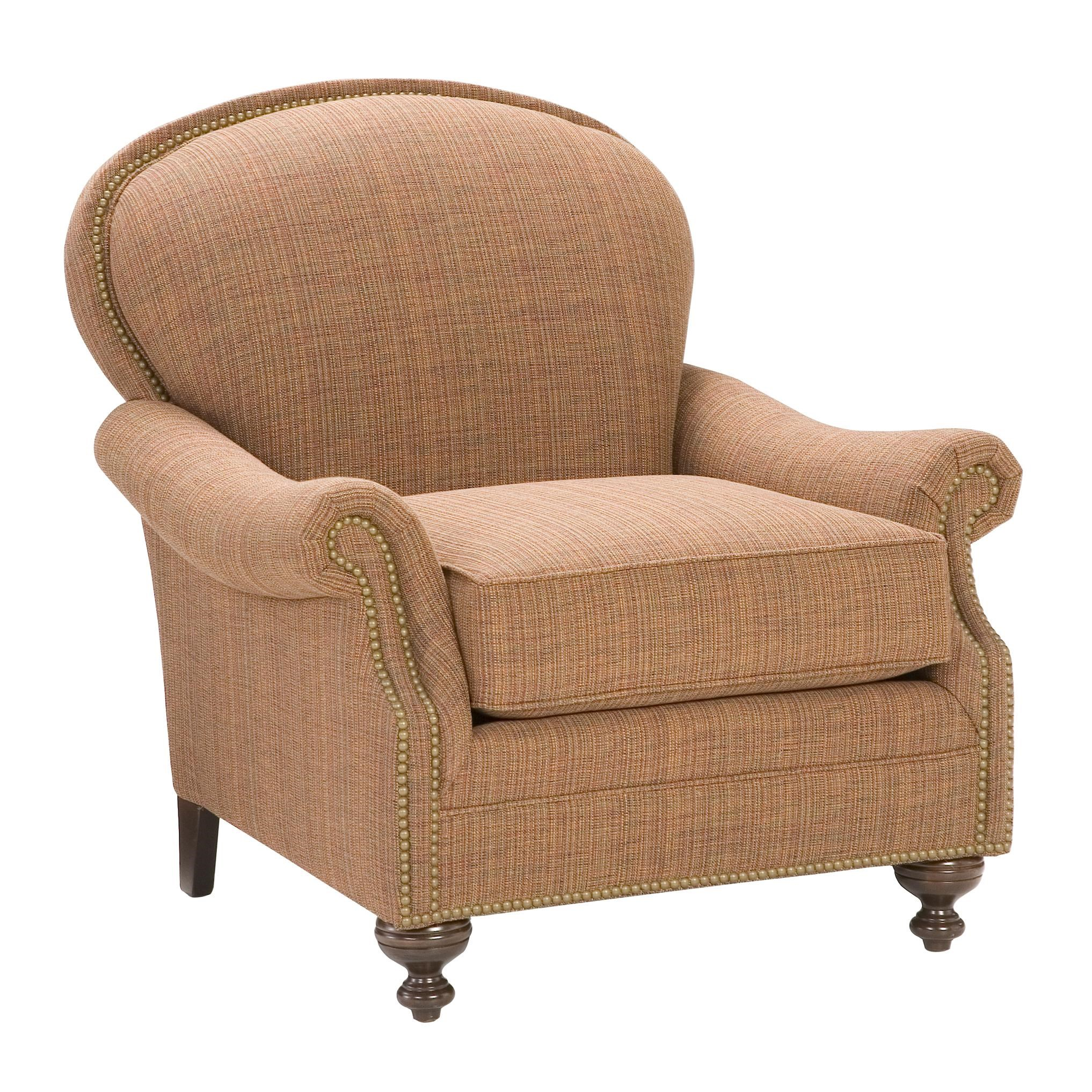 King Hickory King Hickory Accent Chairs And Ottomans Pinehurst Accent Chair  With Nailhead Trim