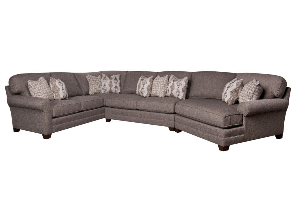 Biltmore Mcgraw Sectional Sofa With Accent Pillows Morris Home