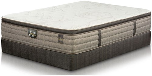 King Koil Kingsley Euro Top Twin Extra Long Euro Top Mattress and Wood Foundation