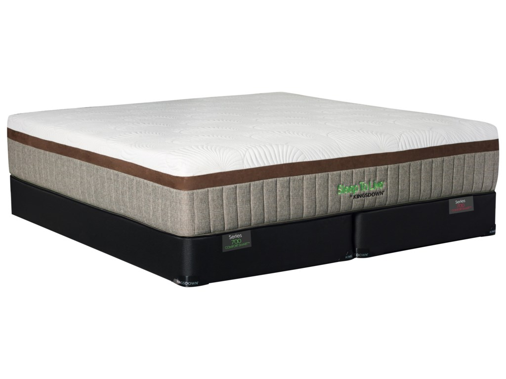 Kingsdown 700 Series 5810 GoldTwin XL Extra Plush Memory Foam Mattress Set
