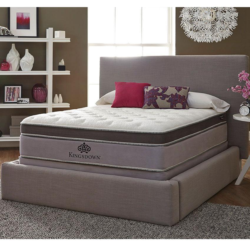 anniversary platinum queen pillow top mattress by kingsdown