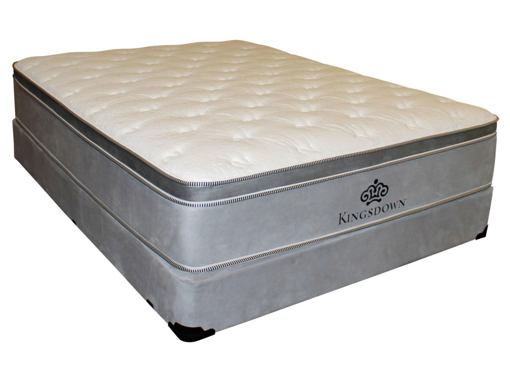 Kingsdown Anniversary Silver Twin Pillow Top Mattress And Foundation