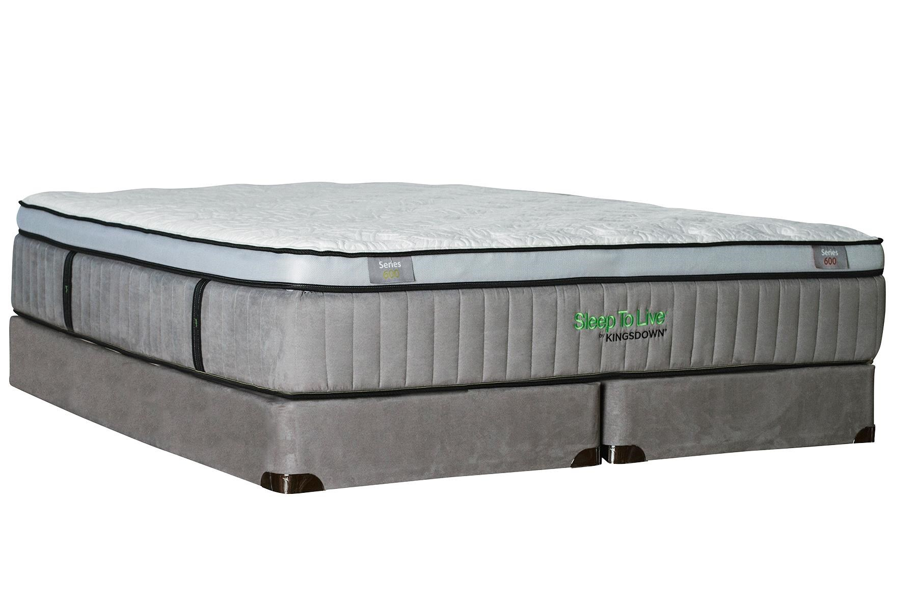 kingsdown sleep to live 600 series600q queen euro top mattress with latex