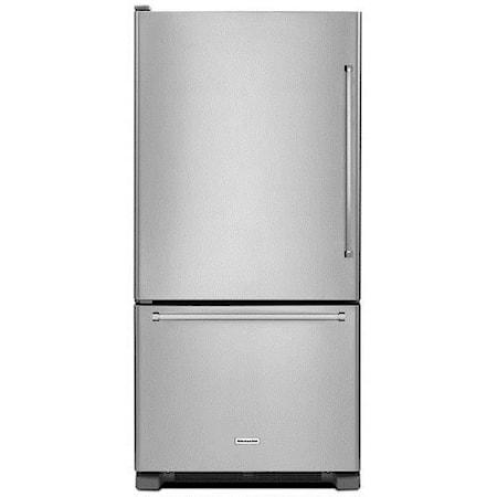 "33"" 22 cu. ft. Bottom Mount Refrigerator"
