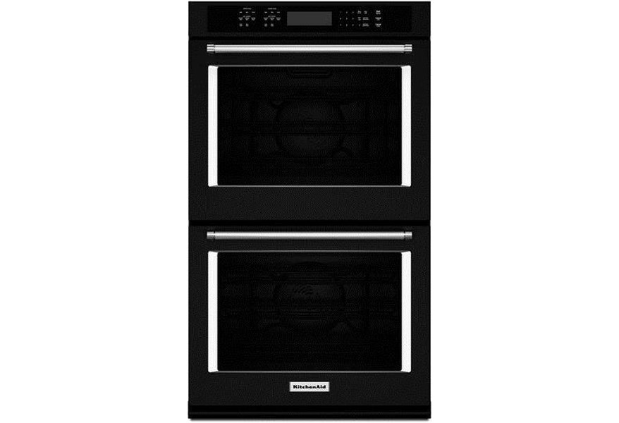 Kitchenaid 30 10 Cu Ft Double Wall Oven With Even Heat True Convection Pedigo Furniture Ovens Electric Double