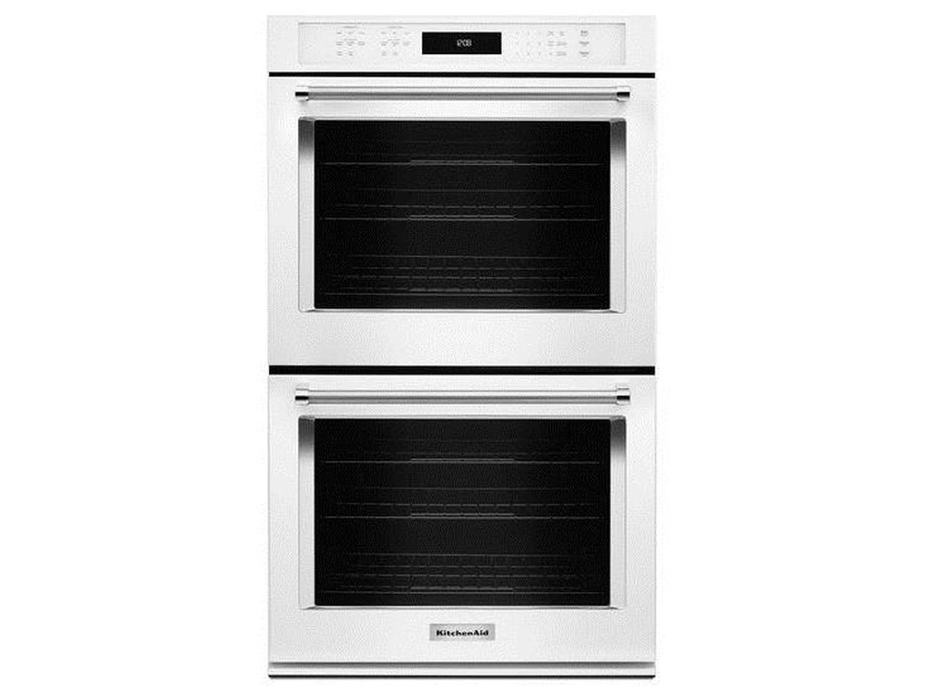 Kitchenaid Kode500ewh30 10 Cu Ft Double Wall Oven With Even Heat