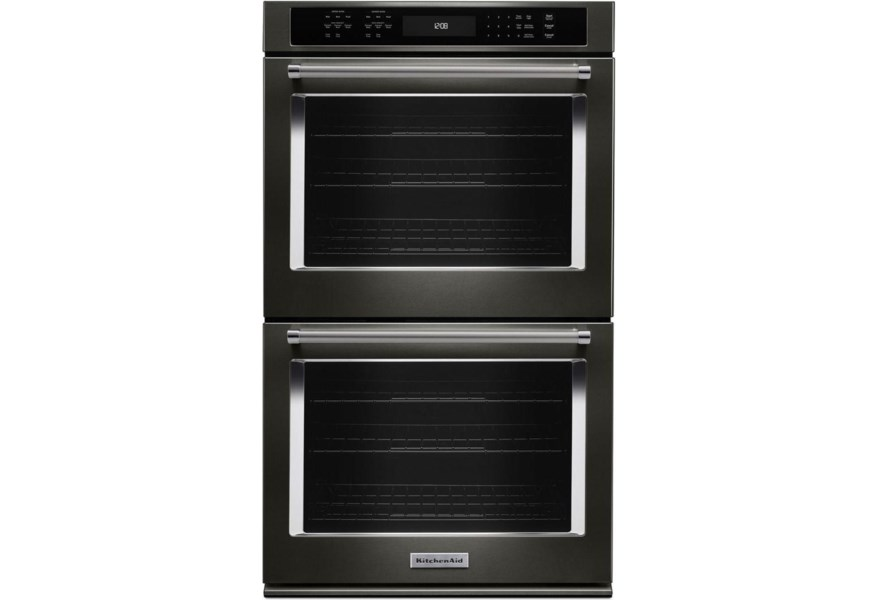 Kitchenaid 27 Double Wall Oven With Even Heat True Convection Pedigo Furniture Ovens Electric Double