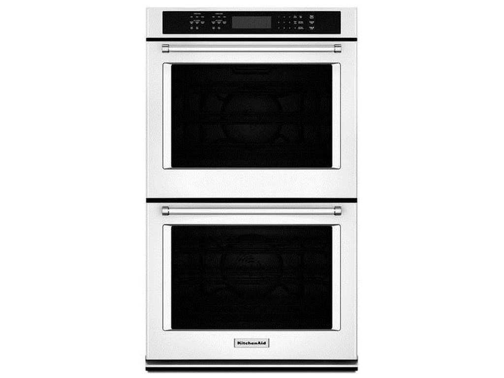 Kitchenaid Kode507ewh8 6 Cu Ft 27 Double Wall Oven With Even Heat