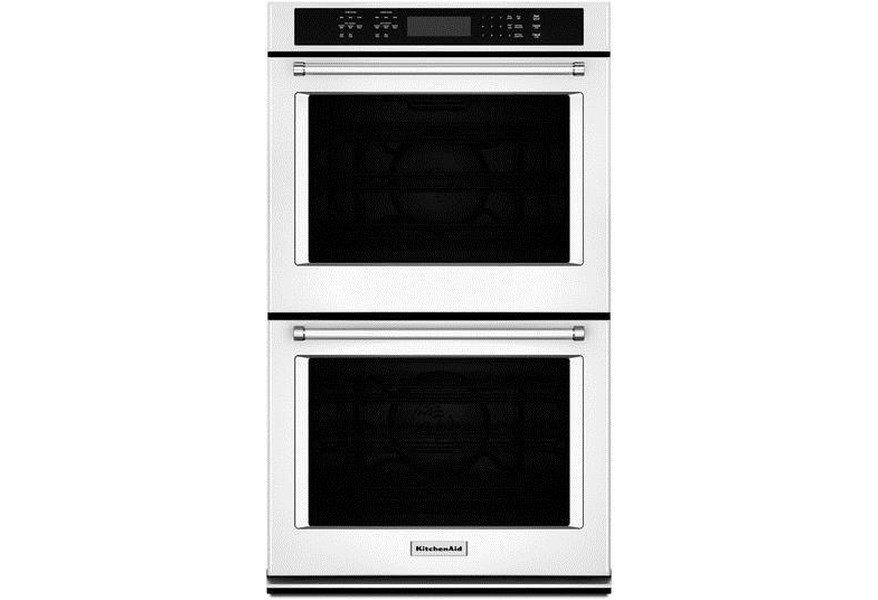 Kitchenaid Kode507ewh 8 6 Cu Ft 27 Double Wall Oven With Even