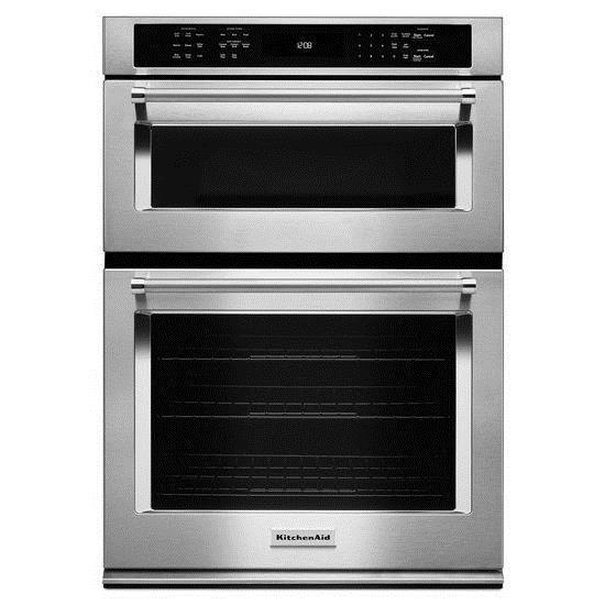 kitchenaid koce500ess30 5 0 cu ft convection oven microwave rh furnitureappliancemart com