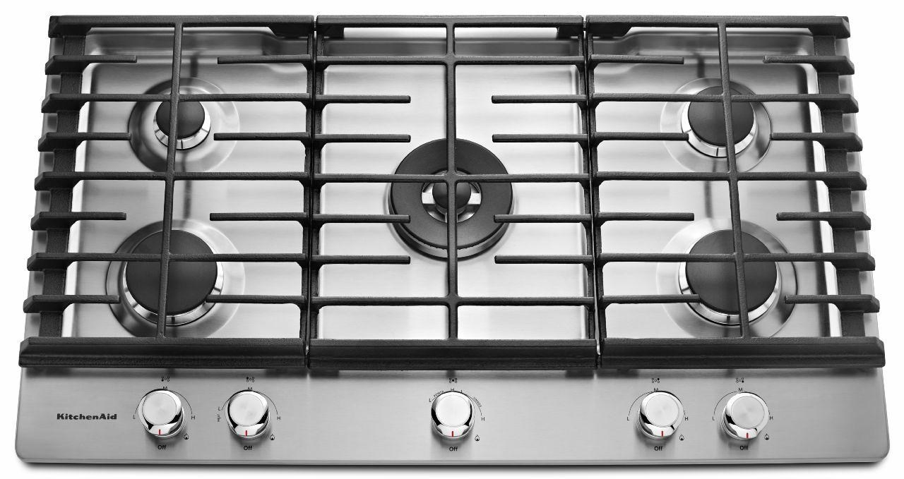 KitchenAid Gas Cooktops36u0027u0027 5 Burner Gas Cooktop ...