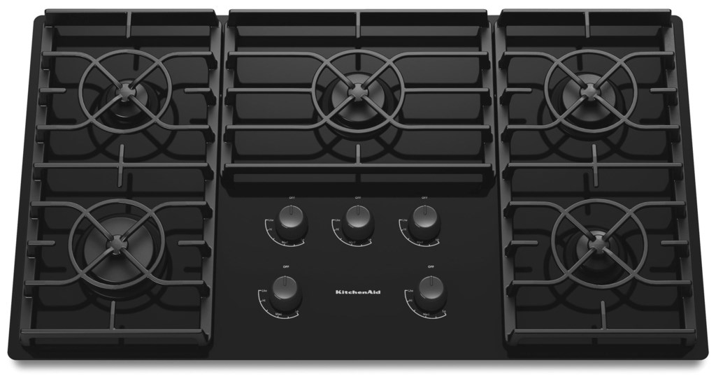 36 Built In Gas Cooktop With 5 Sealed Burners By Kitchenaid Gas Cooktops Collection