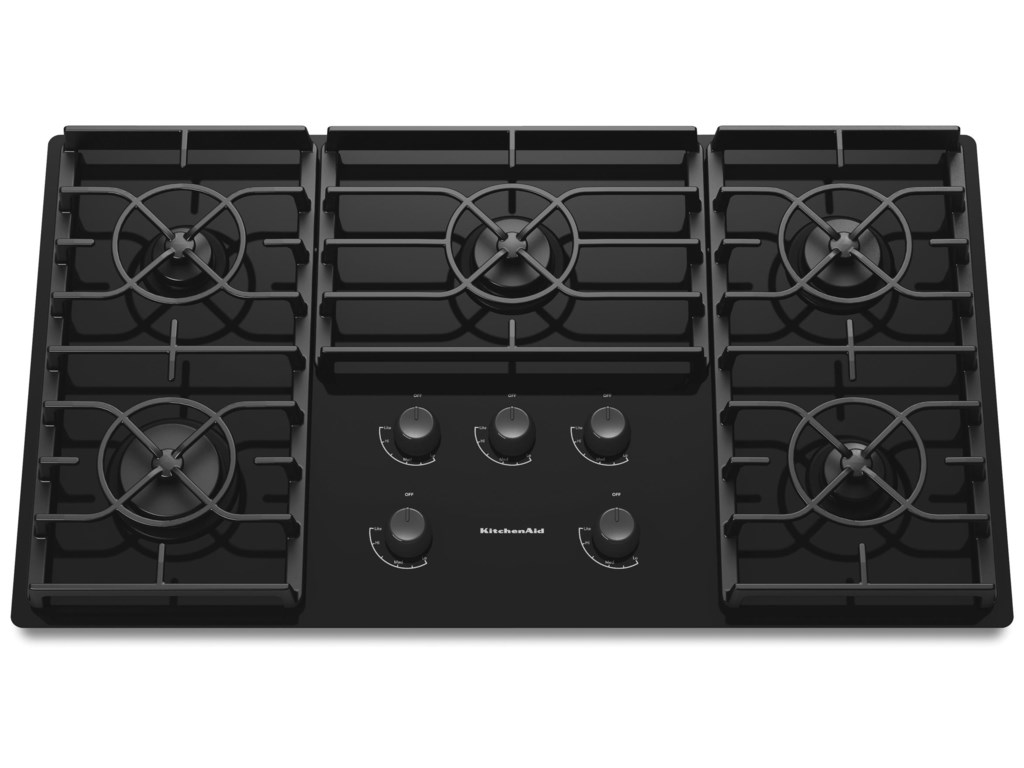 kitchenaid kgcc566rbl36 built in gas cooktop with 5 sealed burners