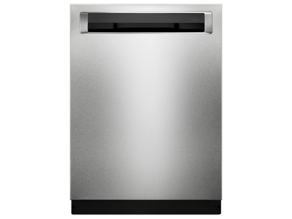 KitchenAid Dishwashers 39 DBA Dishwasher with Fan-Enabled ProDry™ System  and PrintShield™ Finish, Pocket Handle by KitchenAid at Furniture and ...