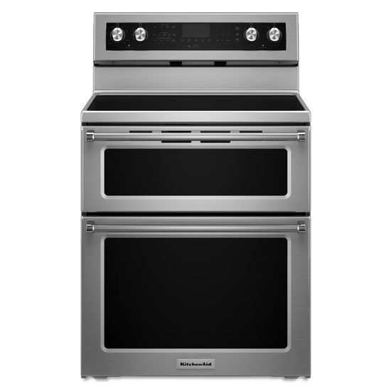 Kitchenaid 30 Inch 5 Burner Electric Double Oven Convection Range