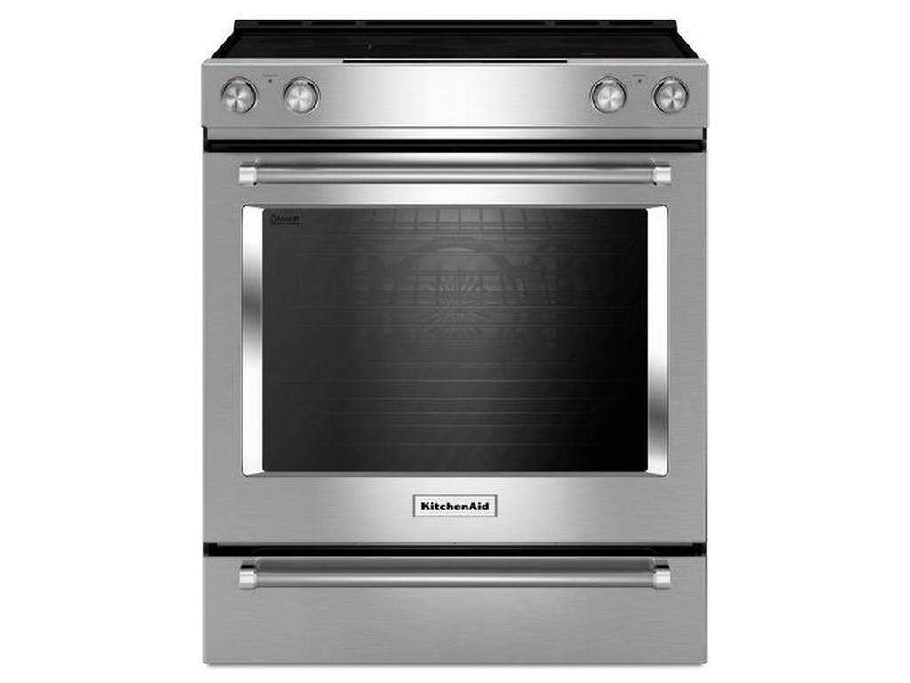 KitchenAid Electric Ranges 30-Inch 5-Element Electric Convection Slide-In  Range with Baking Drawer by KitchenAid at Furniture and ApplianceMart