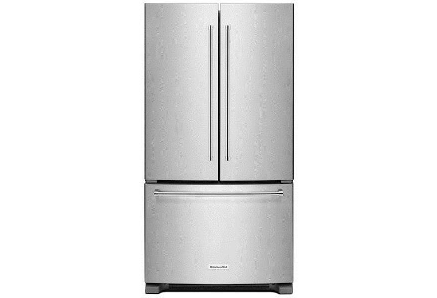 KitchenAid French Door Refrigerators 20 cu. ft. 36-Inch French Door  Refrigerator