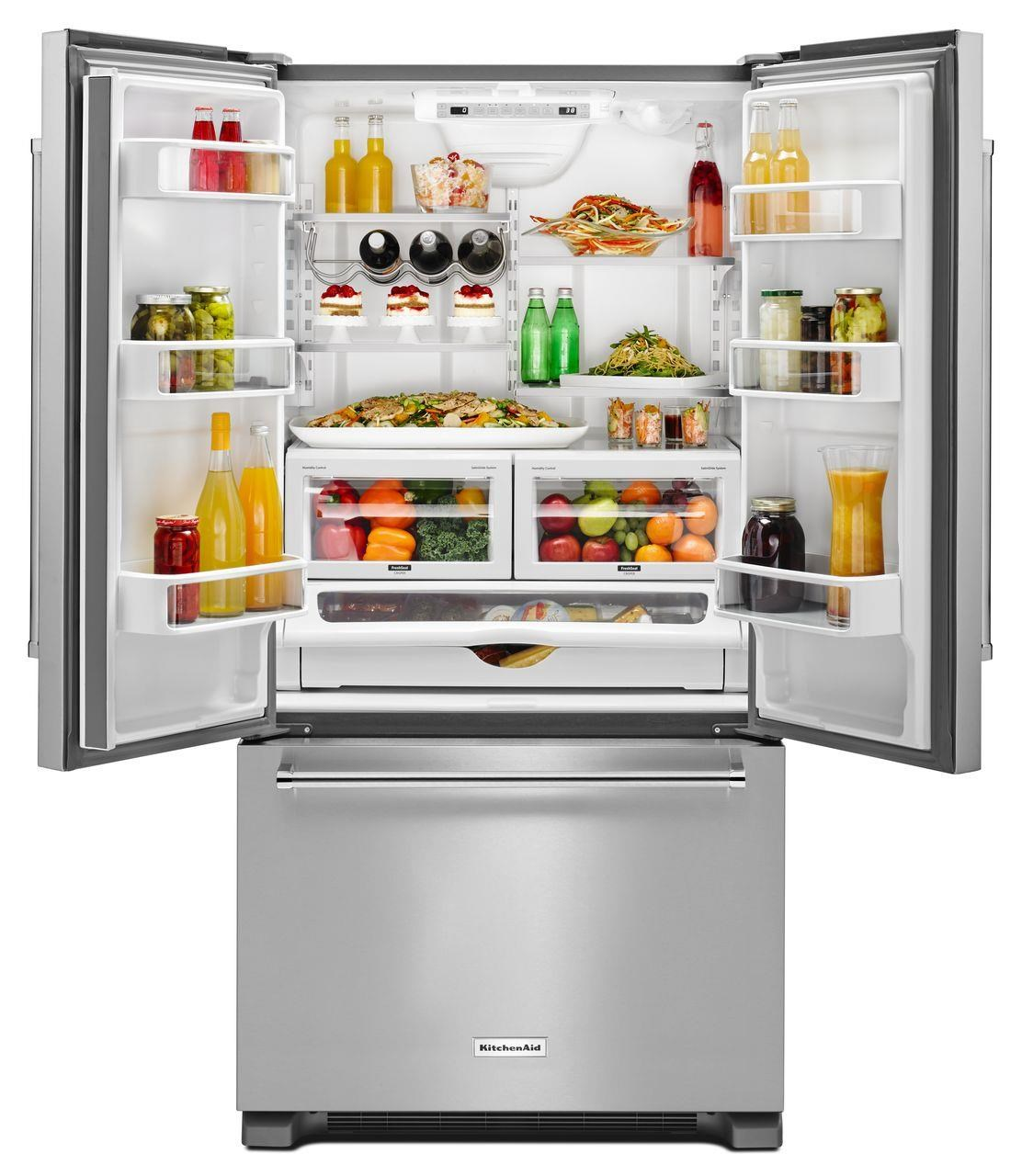 ... KitchenAid KitchenAid French Door Refrigerators22 Cu. Ft. Counter Depth  French Door Fridge ...