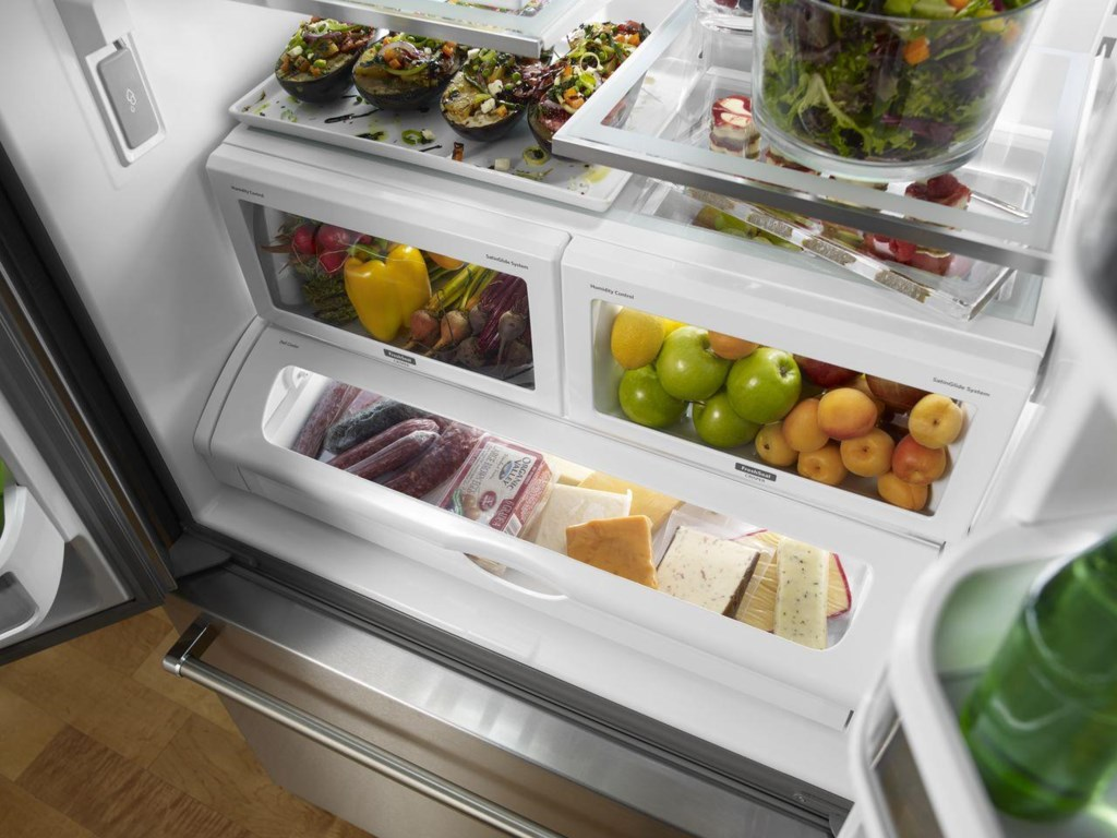 KitchenAid 22 Cu. Ft. Counter Depth French Door Refrigerator with ...