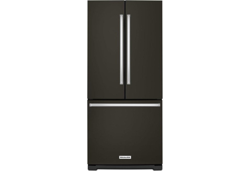 KitchenAid French Door Refrigerators 20 cu. Ft. 30-Inch Width Standard  Depth French Door Refrigerator with Interior Dispense by KitchenAid at ...