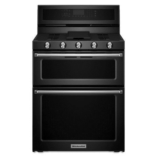 30 Inch 5 Burner Gas Double Oven Convection Range By KitchenAid