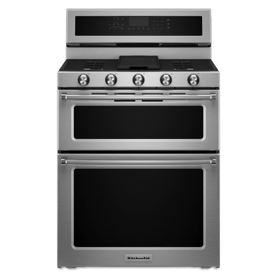 Burner Gas Double Oven Convection Range By Kitchenaid
