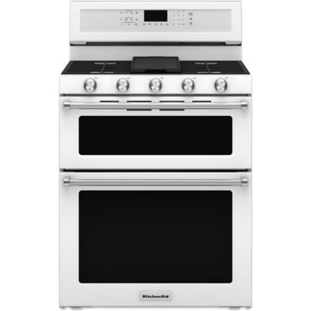30-Inch 5 Burner Gas Double Oven Convection