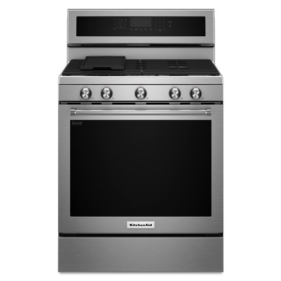 kitchenaid 30 inch 5 burner gas convection range with even heat rh colders com