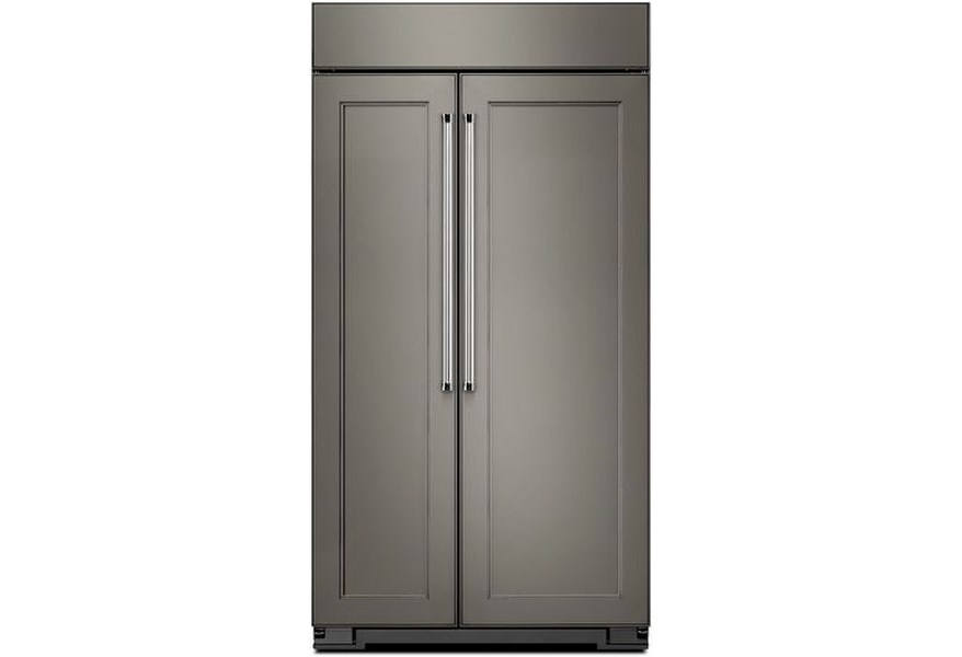 KitchenAid Side-by-Side Refrigerator 25.5 Cu. Ft 42-Inch Width Built-In  Side by Side Refrigerator by KitchenAid at Furniture and ApplianceMart