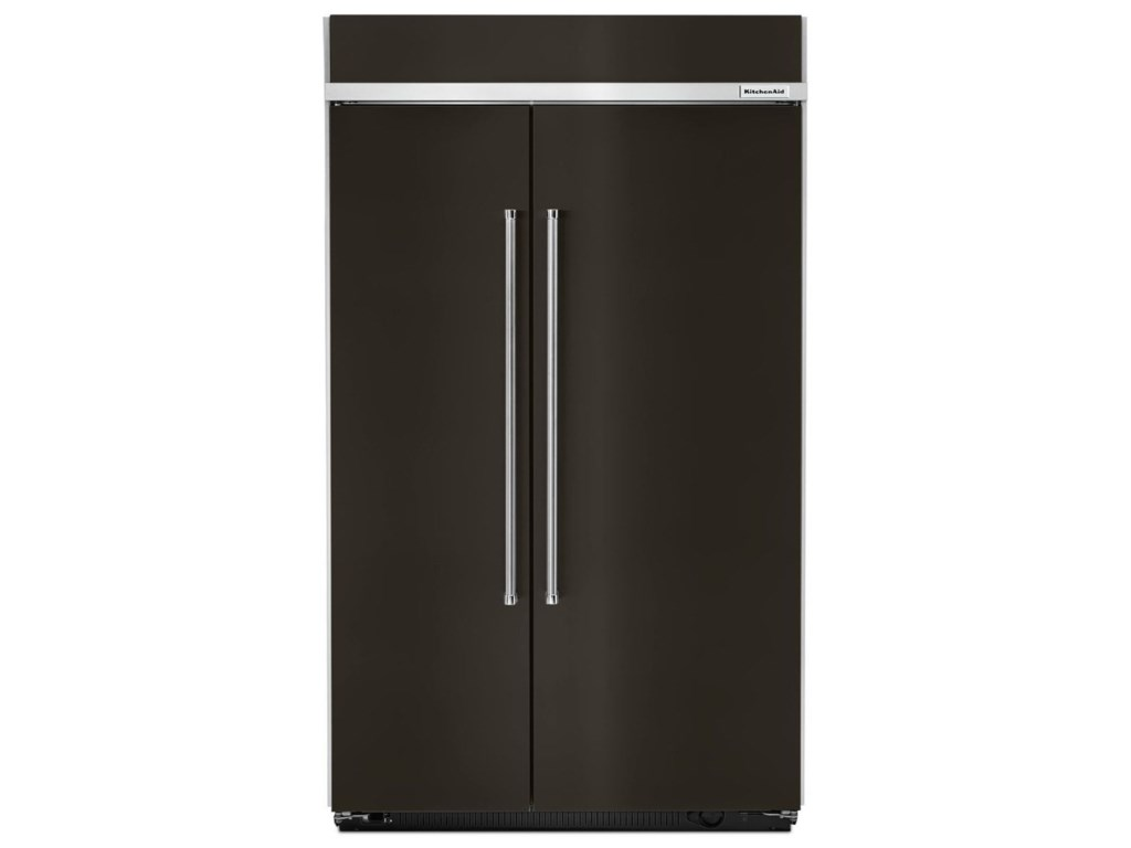 KitchenAid Side-by-Side Refrigerator 30.0 cu. ft 48-Inch Width Built-In  Side by Side Refrigerator with Intuitive Controls by KitchenAid at  Furniture ...