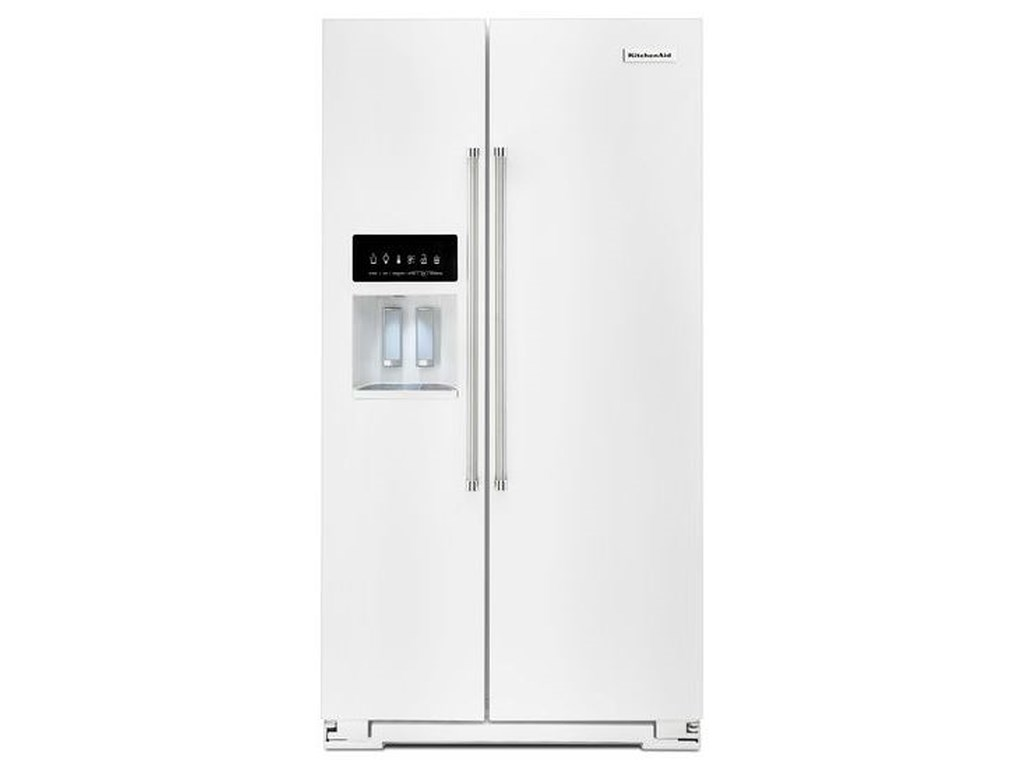 KitchenAid Side-by-Side Refrigerator Energy Star® 24.8 Cu. Ft. Standard  Depth Side-by-Side Refrigerator with Exterior Ice and Water by KitchenAid  at ...