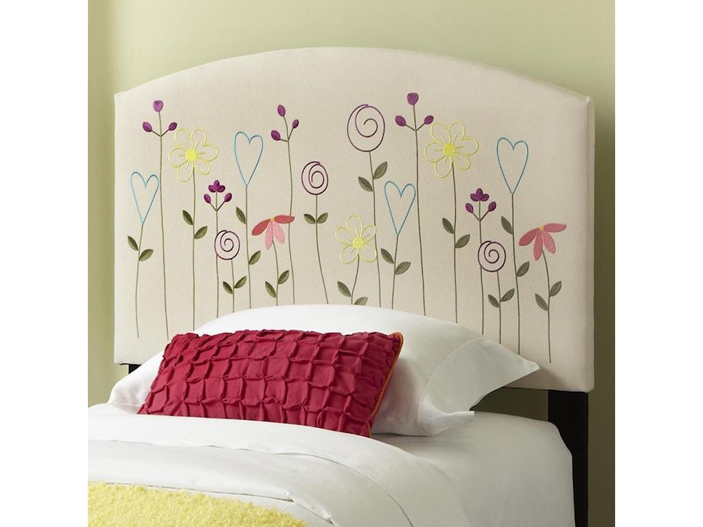 Kith Furniture KourtneyTwin Flower Headboard and Footboard