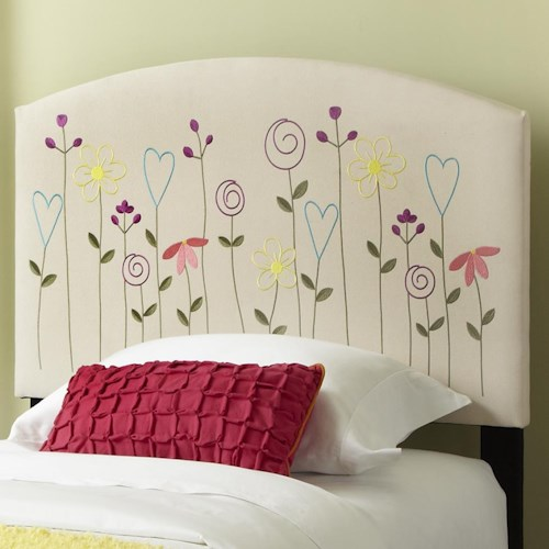 Kith Furniture Kourtney Twin Flower Headboard
