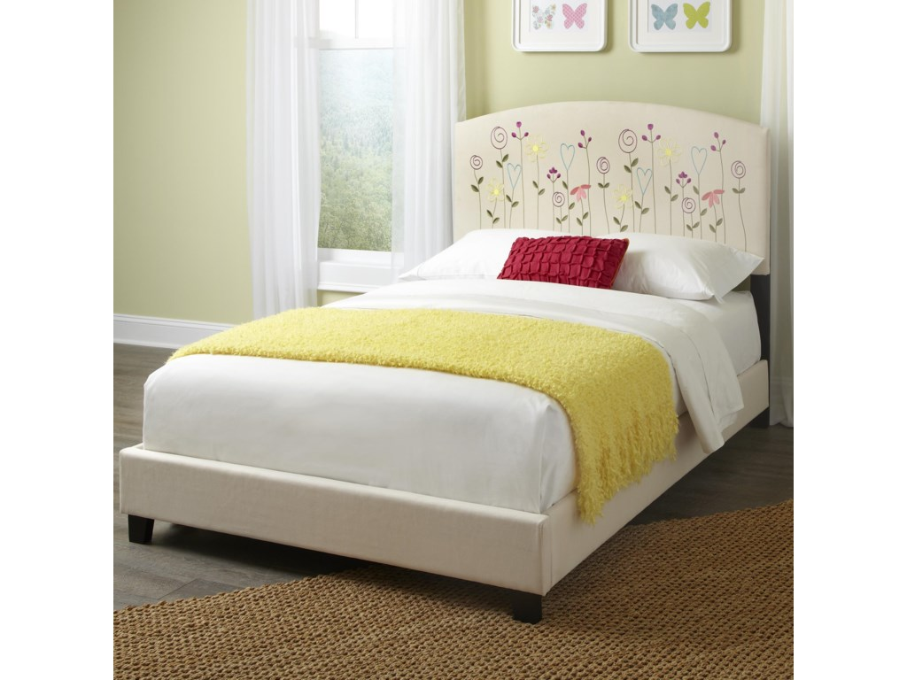 Kith Furniture KourtneyFull Flower Headboard and Footboard