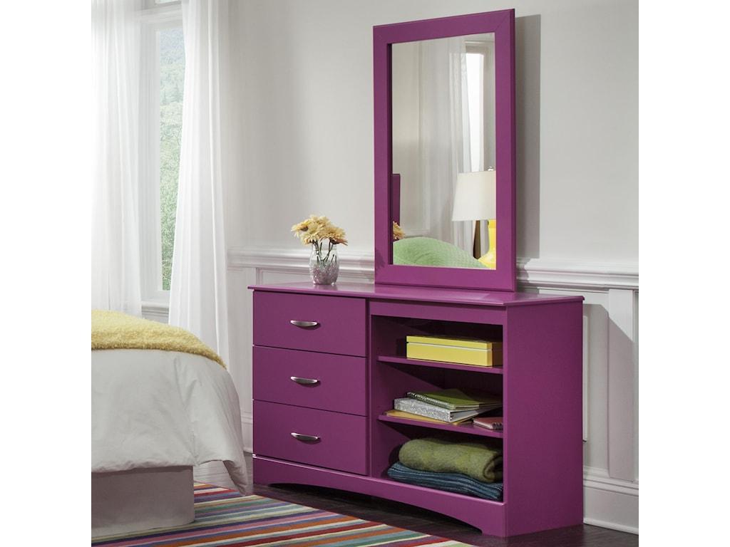 Kith Furniture 171 RaspberryMirror and Dresser Set