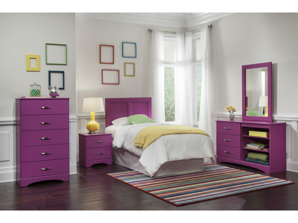 Kith Furniture 171 RaspberryMirror and Dresser Set